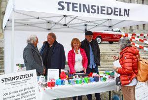 19.05.2019 Theater-Regisseure Livio Andreina und Volker Hesse am STEINSIEDELN-Stand